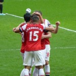 Celebration with Chamberlain and Walcott