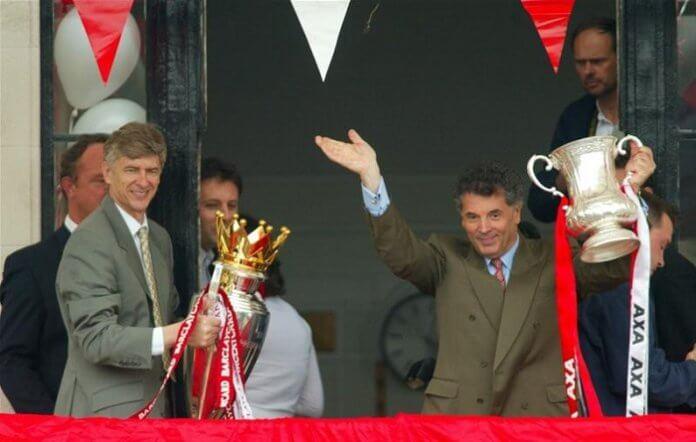 Arsene Wenger and David Dein