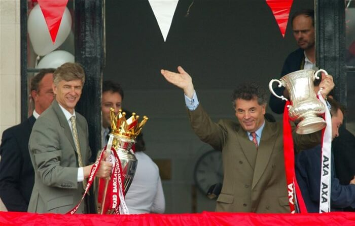 Arsene Wenger and David Dein